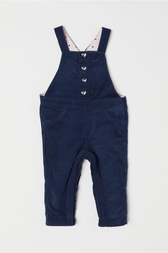 8657da2cda6 Corduroy Bib Overalls - Dark blue - Kids