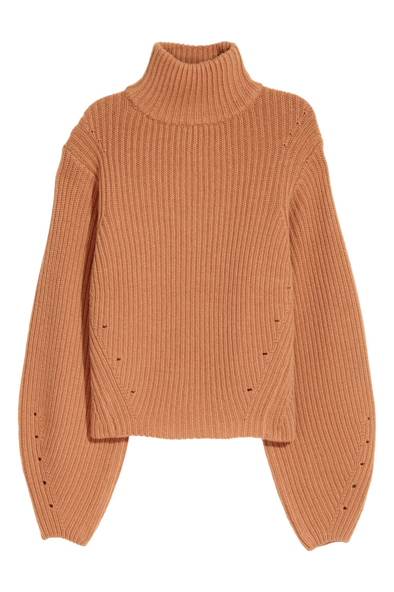 Cashmere-blend jumper - Camel - Ladies | H&M GB
