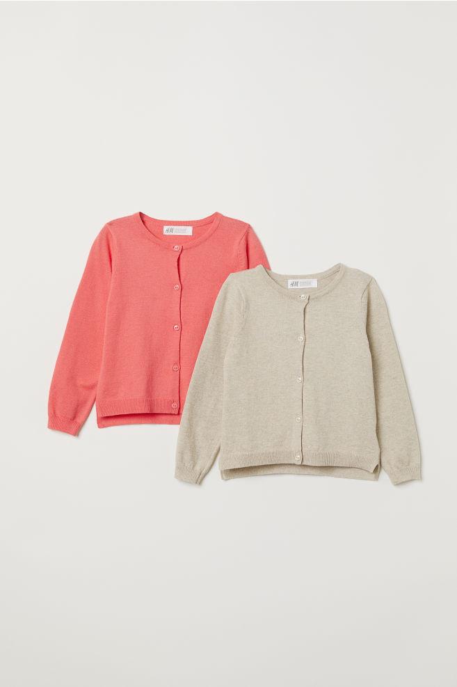2-pack Cardigans - Coral/beige - Kids | H&M CA 3