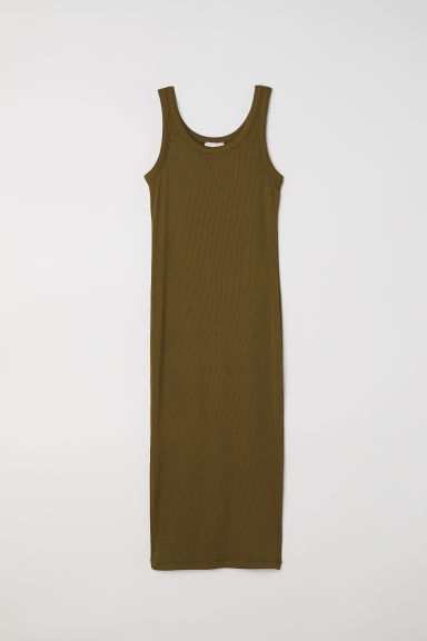Bodycon dress - Khaki green - Ladies | H&M