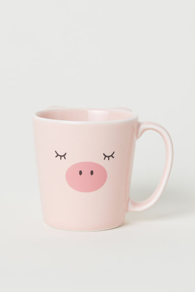 Porcelain cup - Pink/Pig - Home All | H&M CN
