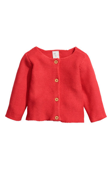Cotton cardigan - Red -  | H&M