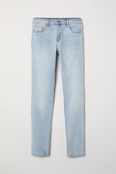 Trousers Skinny Fit - Light denim blue - Ladies | H&M
