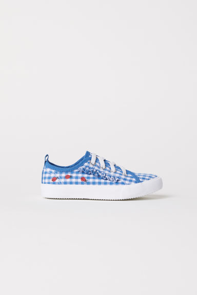 Trainers - Natural/Blue checked -  | H&M