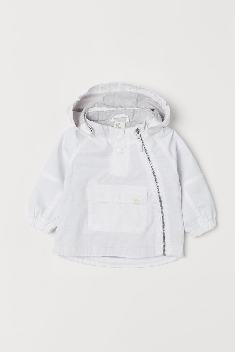 Cotton popover jacket - White -  | H&M