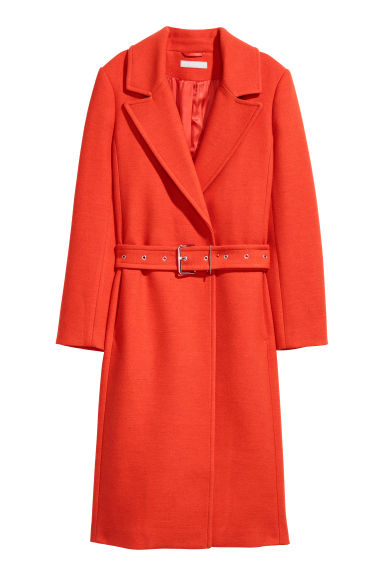 Wool-blend coat - Neon orange - Ladies | H&M