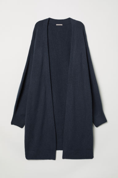 H&M+ Long cardigan - Dark blue marl - Ladies | H&M CN