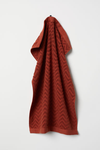 Jacquard-patterned hand towel - Rust - Home All | H&M CN