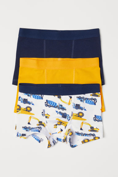 3-pack boxer shorts - Yellow/Machines - Kids | H&M