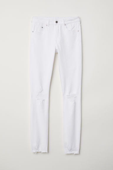 Skinny Regular Ankle Jeans - White - Ladies | H&M CN