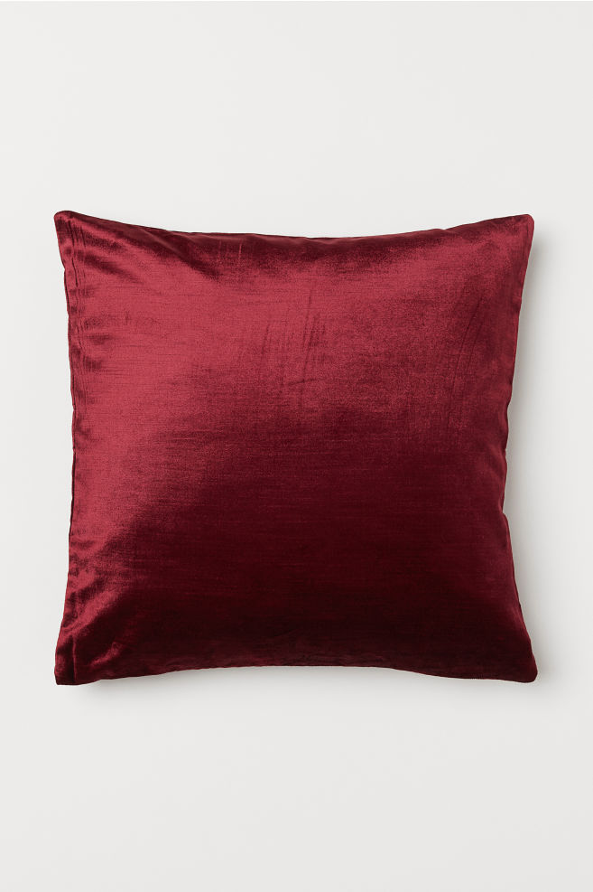cff504a64547 Velvet Cushion Cover - Dark red - Home All | H&M ...