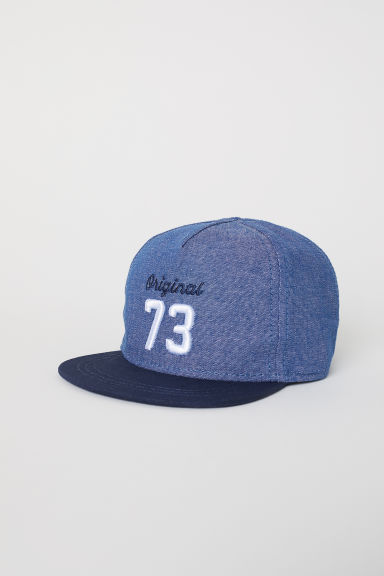 Cap with embroidery - Blue - Kids | H&M CN