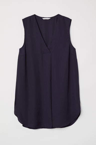 V-neck blouse - Dark blue - Ladies | H&M