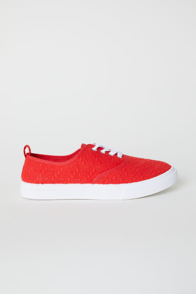 Canvas trainers - Bright red -  | H&M