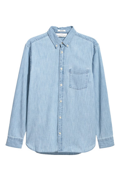 Denimpaita Regular fit - Vaalea deniminsininen - MIEHET | H&M FI