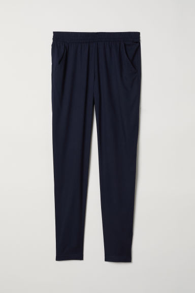 Elasticated viscose trousers - Dark blue - Ladies | H&M