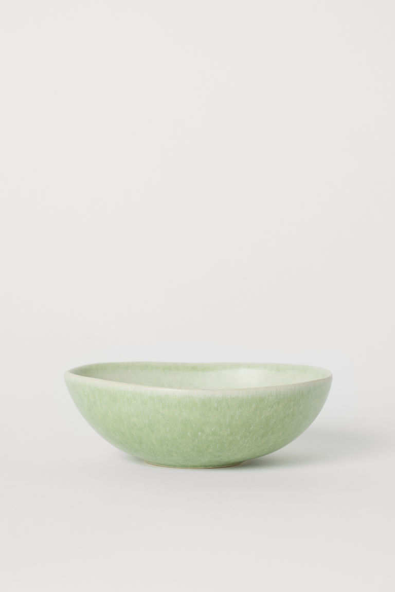 Stoneware bowl - Dusky green - Home All | H&M GB
