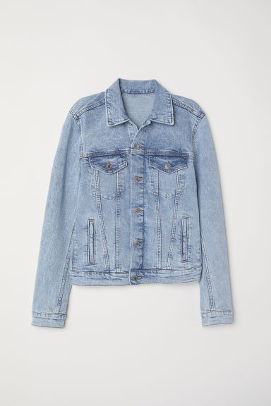 Denim jacket - Light denim blue - Ladies | H&M CN