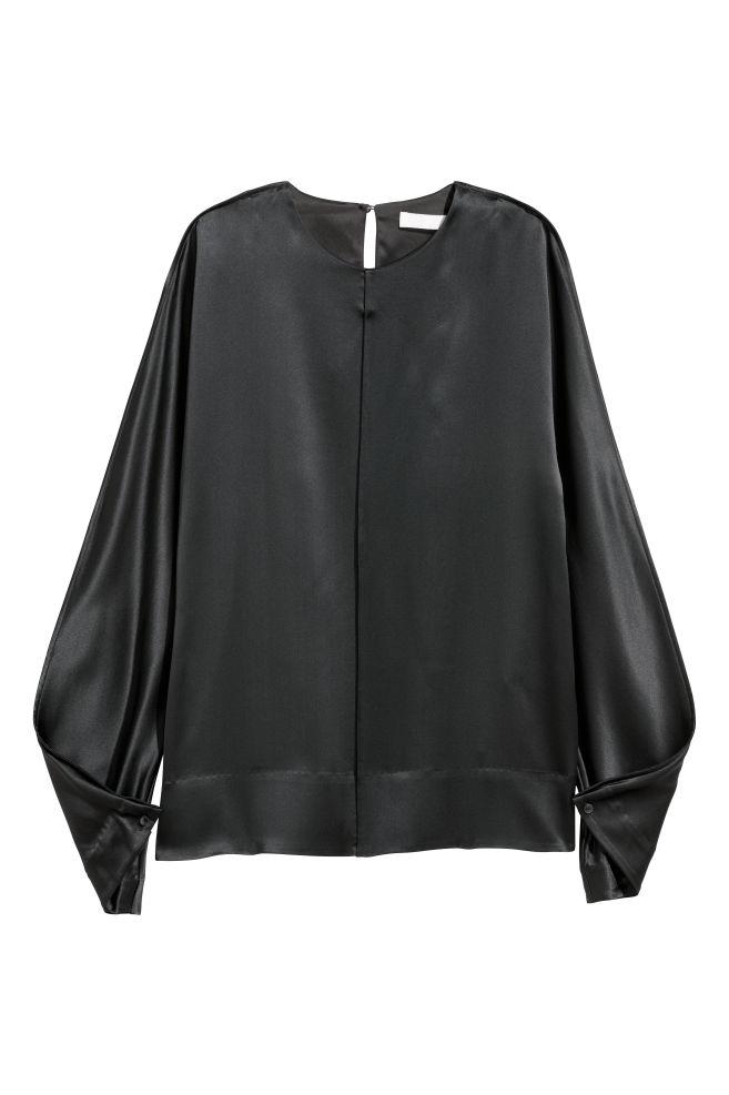 090e038e61d18e Silk blouse - Dark grey - Ladies