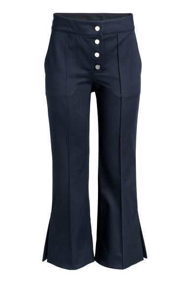 Cropped trousers - Dark blue -  | H&M