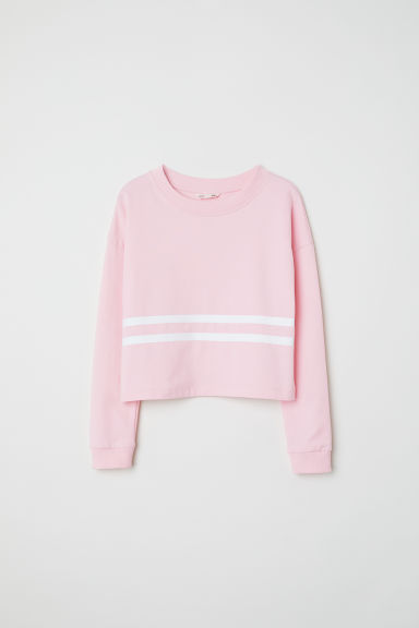 Felpa corta - Rosa -  | H&M IT