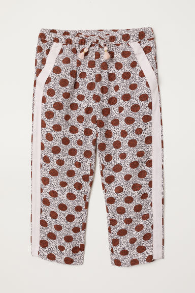 Patterned pull-on trousers - Light pink/Patterned - Kids | H&M CN