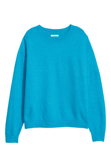 Fine-knit jumper - Turquoise - Ladies | H&M CN