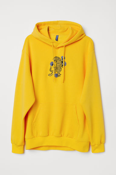 Hooded top - Yellow/Tiger - Men | H&M