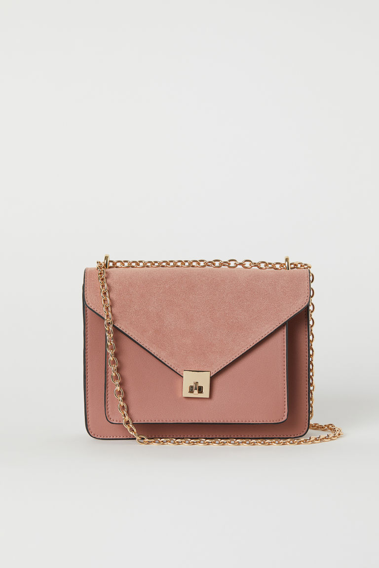 Shoulder bag with suede detail - Vintage pink - Ladies | H&M GB