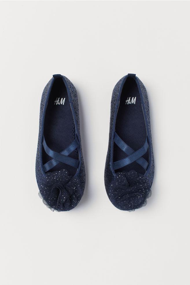 a47992d80 Ballet pumps - Dark blue/Glittery - Kids | H&M ...