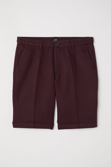 Chino shorts Skinny Fit - Burgundy -  | H&M
