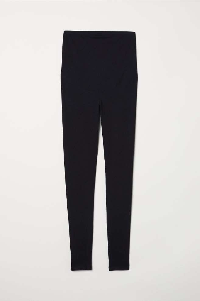 4bb79089cfc521 ... MAMA Jersey leggings - Black - Ladies | H&M ...