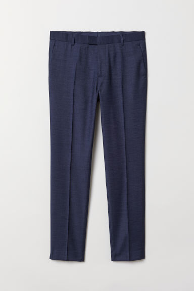 Suit trousers Skinny fit - Dark blue marl - Men | H&M IE