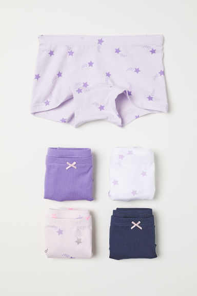 5-pack boxer briefs - Purple/Stars - Kids | H&M