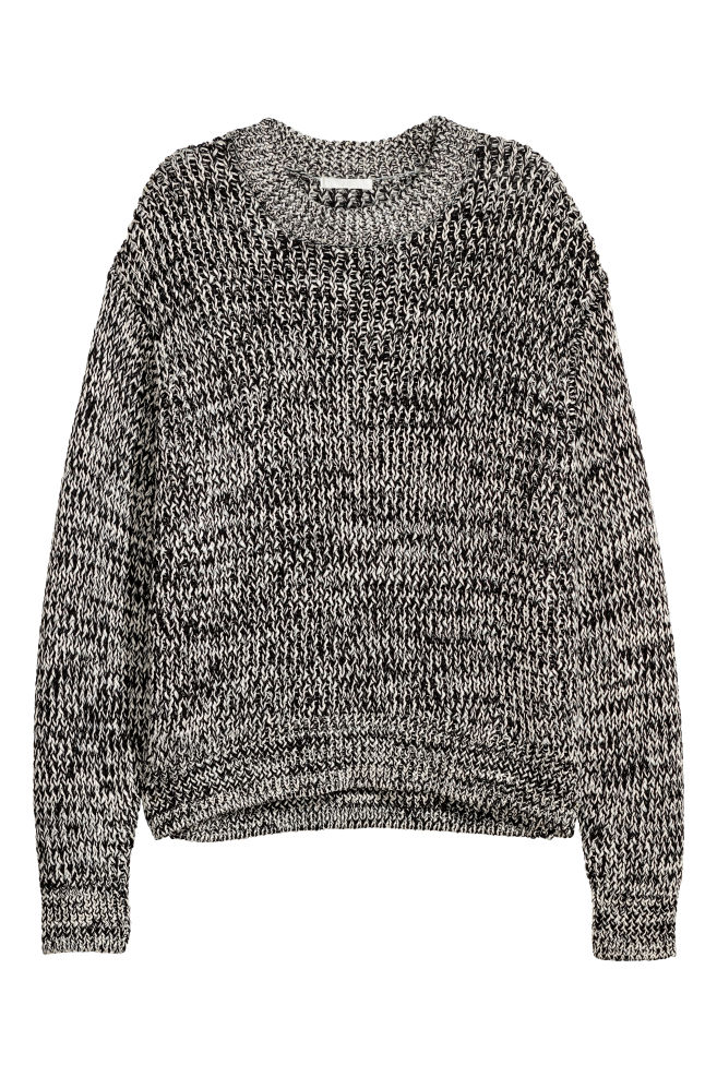 e284468dd7 Chunky-knit Sweater - White Black marl - Ladies