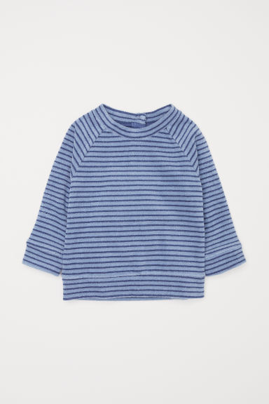Terry top - Pigeon blue -  | H&M