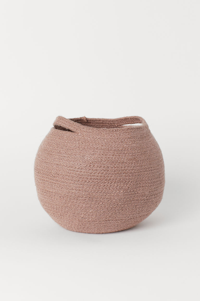 Jute storage basket - Old rose - Home All | H&M CN