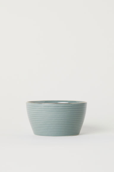 Textured bowl - Dusky green -  | H&M IE