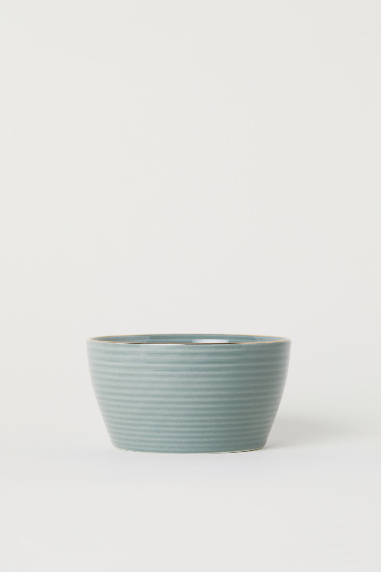 Textured bowl - Dusky green - Home All | H&M GB