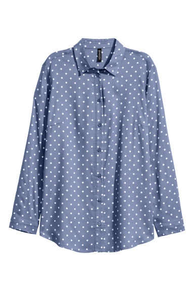 Viscose shirt - Blue/Spotted -  | H&M CN