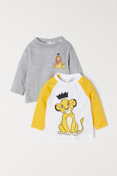 2-pack long-sleeved tops - Grey marl/The Lion Guard -  | H&M CN