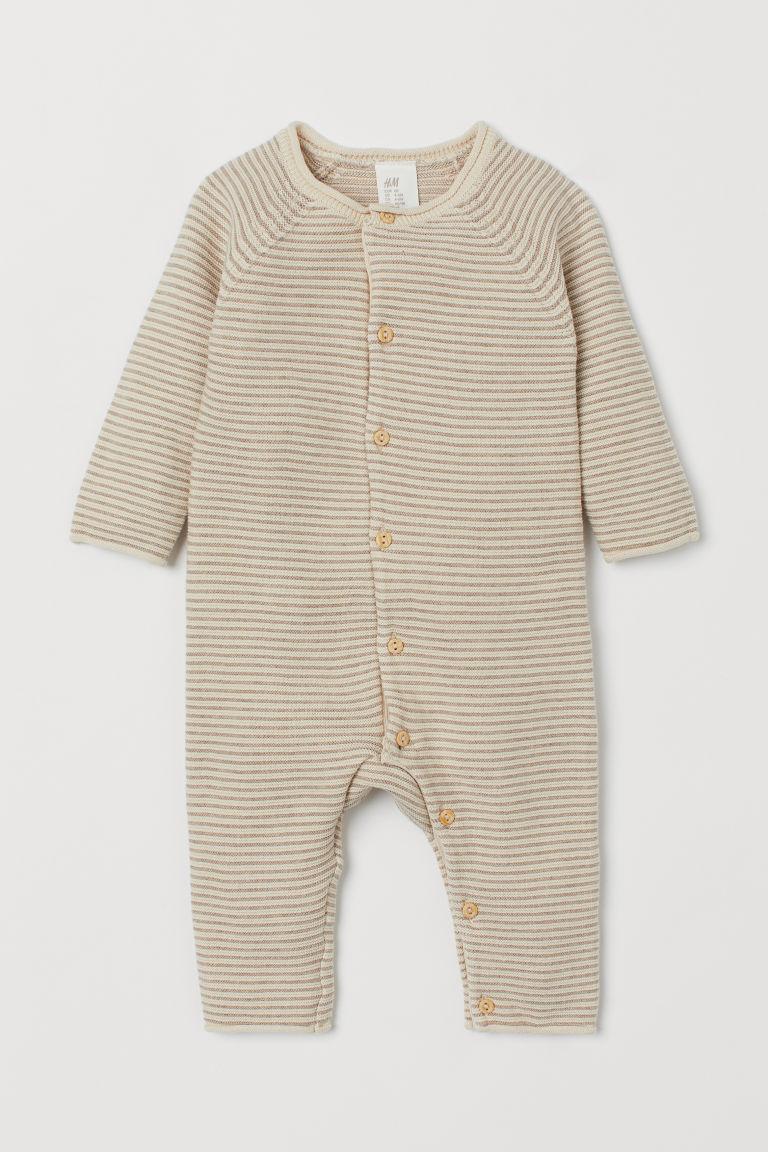all'ingrosso lotta vendite all'ingrosso Tutina in maglia fine - Bianco/beige righe - BAMBINO | H&M IT