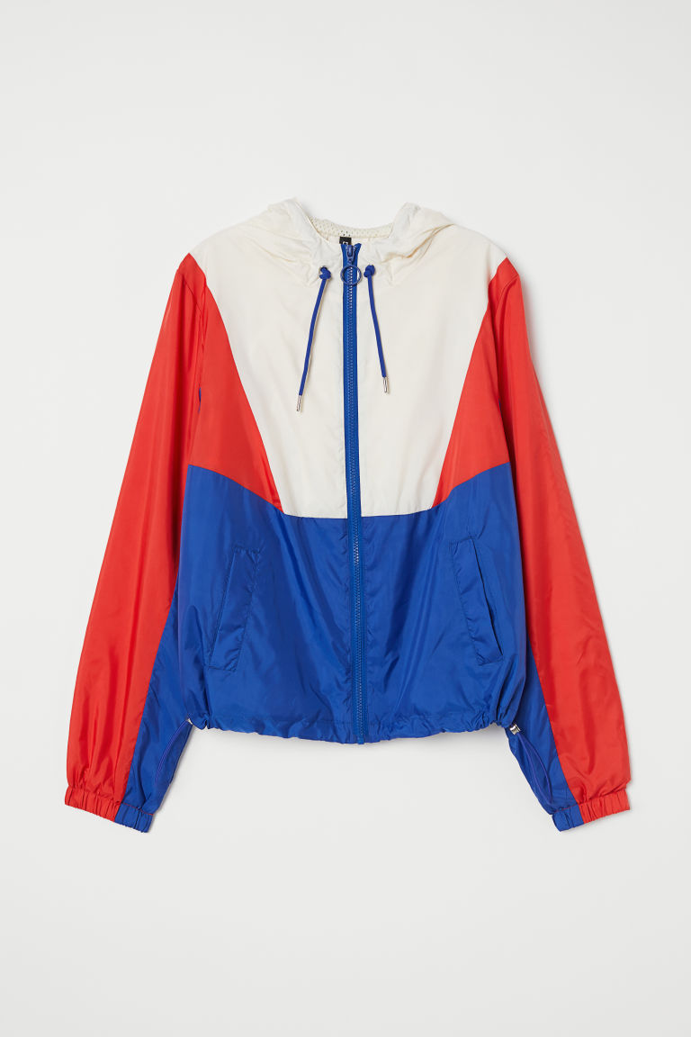 Windbreaker - Red/white/blue - Ladies | H&M CA