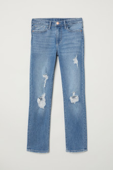 Skinny Fit Trashed Jeans