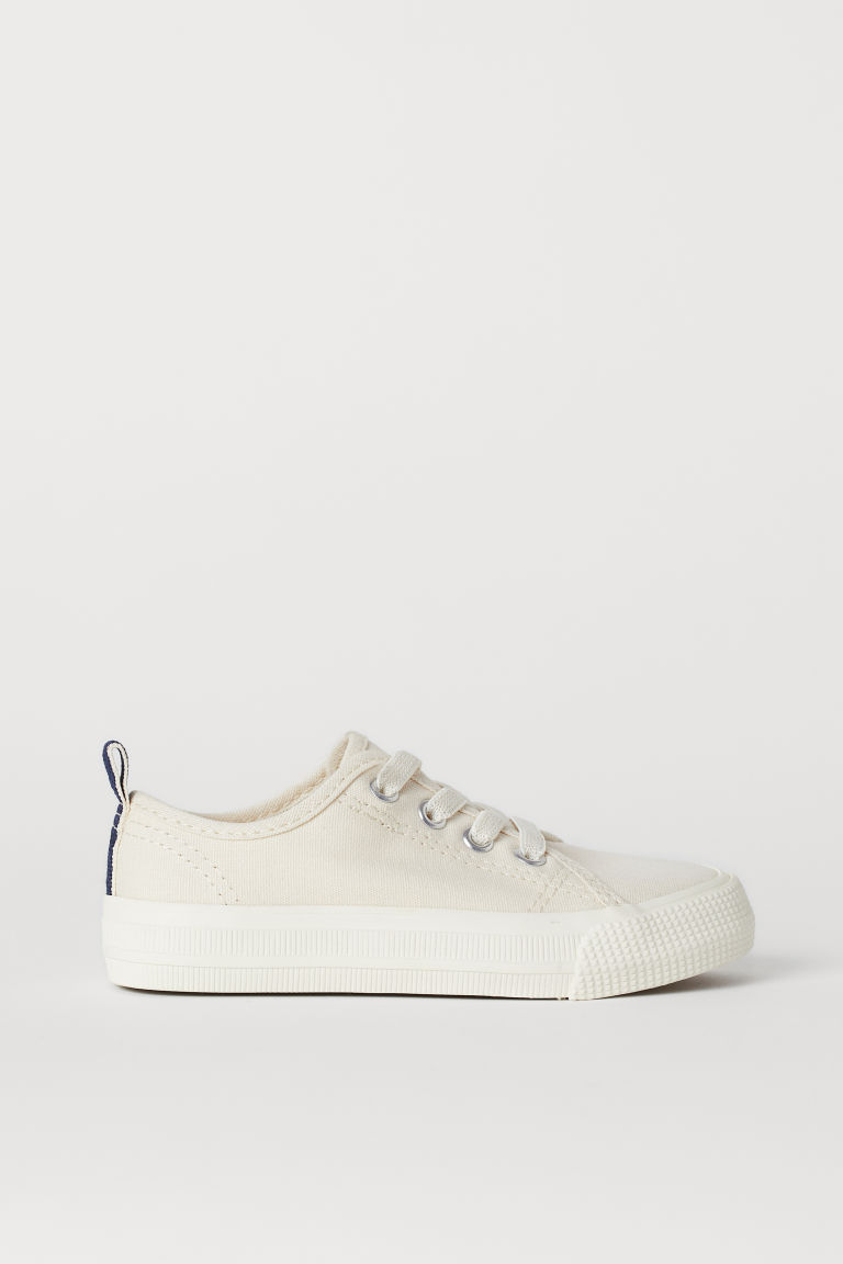 Canvas trainers - Natural white - Kids | H&M