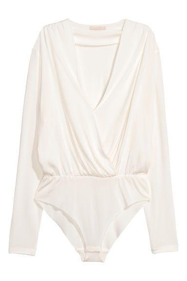 Draped body - White - Ladies | H&M CN