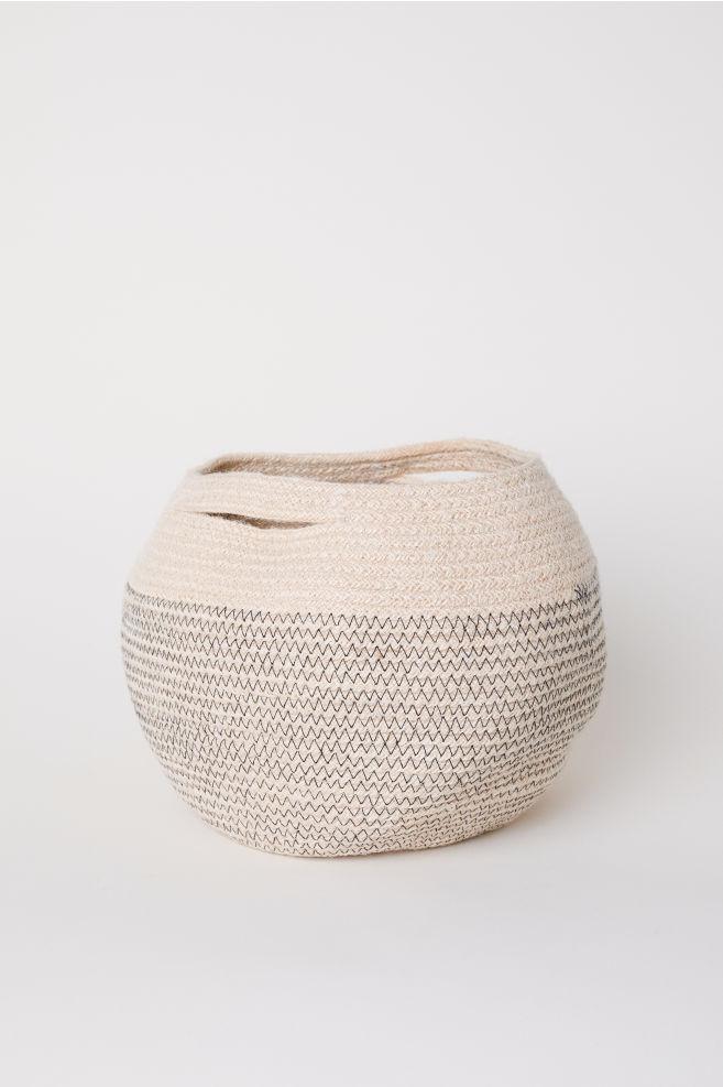 Wspaniały Kosz do przechowywania z juty - Naturalna biel - | H&M PL OG81