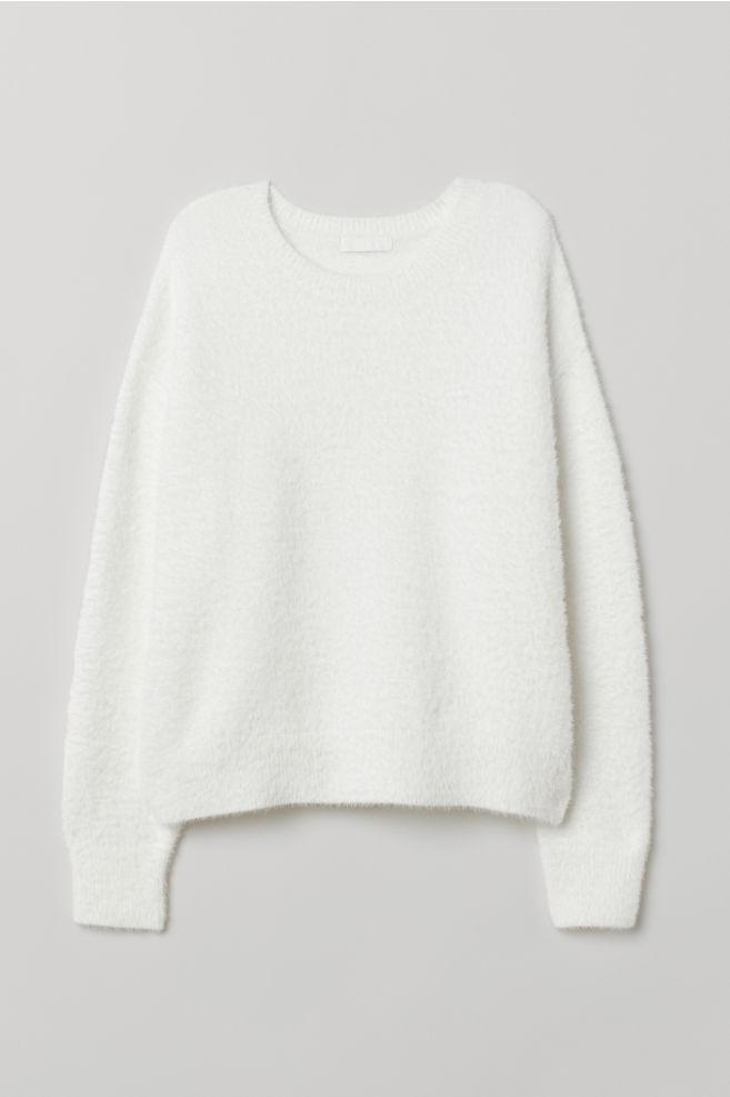 ... Fine-knit Sweater - White - Ladies  40e3449b5