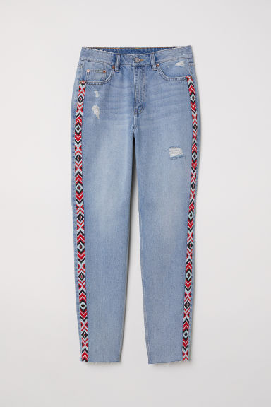 Slim Mom Jeans - Bleu denim clair -  | H&M CH
