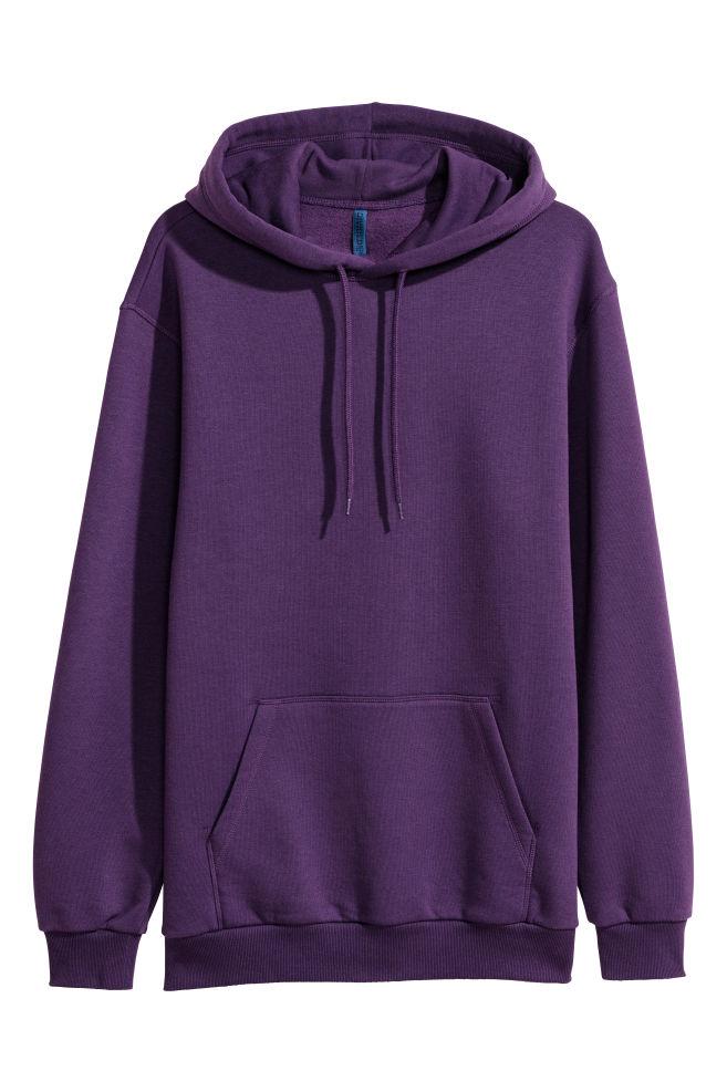 917c78d16a34 Hooded Sweatshirt - Dark purple - Men
